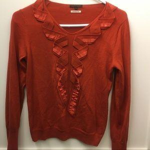 Trans work Orange sweater cute! SZ 38